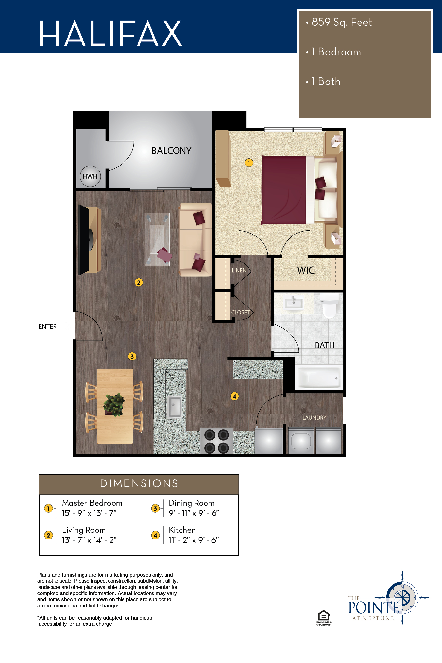 The Pointe At Neptune Floor Plan The Newport